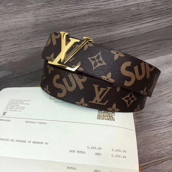 Louis Vuitton SPREME 40mm Belt M5899 Brown