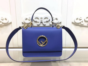 Fendi KAN I Leather Bag FD2670 Blue