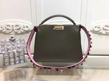 Fendi Peekaboo Bags Original Leather F3659 Green