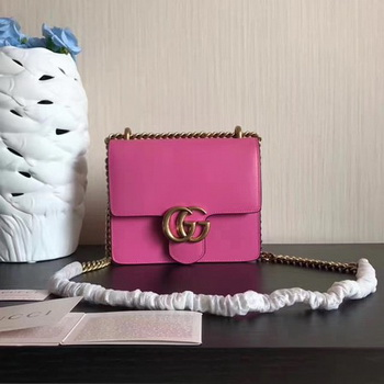 Gucci GG Marmont Leather mini Chain Bag 431384 Rose