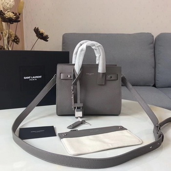 Yves Saint Laurent Classic Sac De Jour Bag Calfskin Leather Y398711 Grey