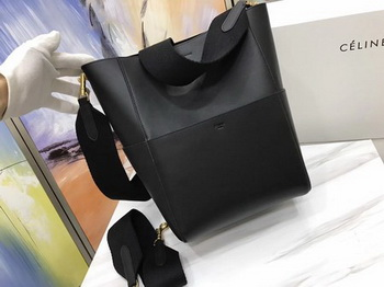 CELINE Sangle Seau Bag in Smooth Leather C3371 Black
