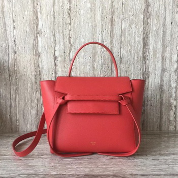 Celine Belt mini Bag Original Leather C98310 Red