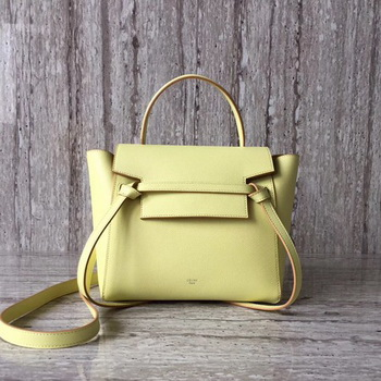Celine Belt mini Bag Original Leather C98310 Yellow