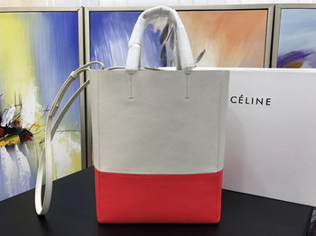 Celine Cabas Phantom Bags Original Leather C3365 Apricot&Red
