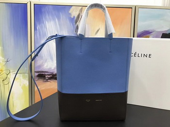 Celine Cabas Phantom Bags Original Leather C3365 Blue&Black