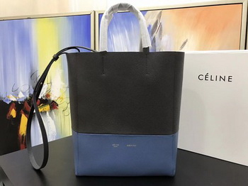 Celine Cabas Phantom Bags Original Leather C3365 Grey&Blue