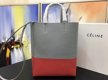 Celine Cabas Phantom Bags Original Leather C3365 Grey&Red