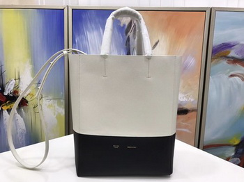 Celine Cabas Phantom Bags Original Leather C3365 OffWhite&Black