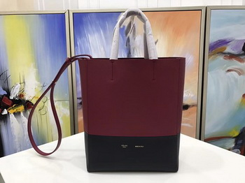 Celine Cabas Phantom Bags Original Leather C3365 Wine&Black