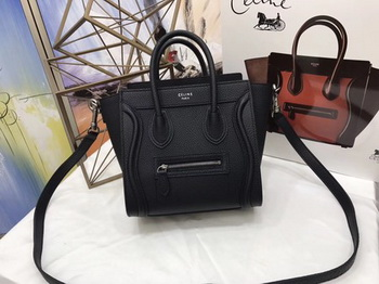 Celine Luggage Nano Tote Bag Original Leather CA3560 Black