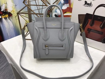 Celine Luggage Nano Tote Bag Original Leather CA3560 Grey