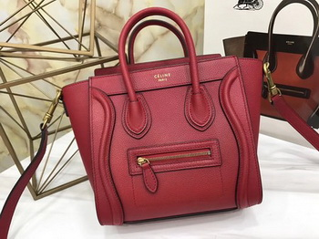 Celine Luggage Nano Tote Bag Original Leather CA3560 Red