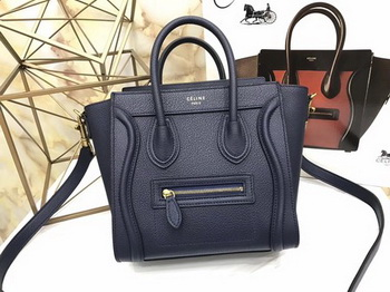 Celine Luggage Nano Tote Bag Original Leather CA3560 Royal