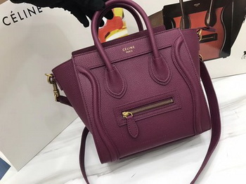 Celine Luggage Nano Tote Bag Original Leather CA3560 Wine