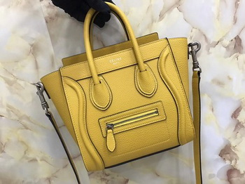 Celine Luggage Nano Tote Bag Original Leather CA3560 Yellow