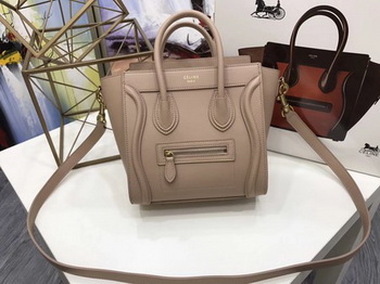 Celine Luggage Nano Tote Bag Original Leather CC3560 Apricot