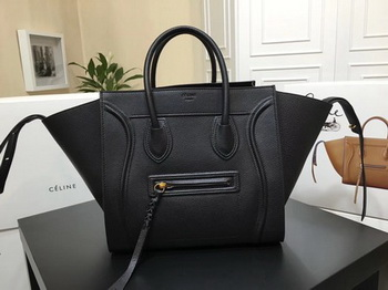 Celine Luggage Phantom Tote Bag Calfskin Leather CT3372 Black