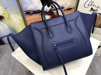 Celine Luggage Phantom Tote Bag Calfskin Leather CT3372 Blue