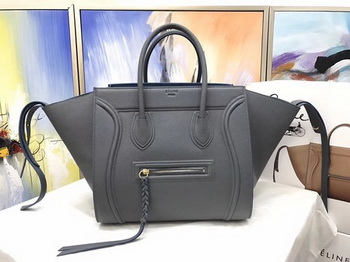 Celine Luggage Phantom Tote Bag Calfskin Leather CT3372 Deep Grey