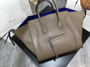 Celine Luggage Phantom Tote Bag Calfskin Leather CT3372 Grey&Blue