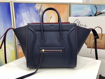 Celine Luggage Phantom Tote Bag Calfskin Leather CT3372 Royal