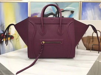 Celine Luggage Phantom Tote Bag Calfskin Leather CT3372 Wine
