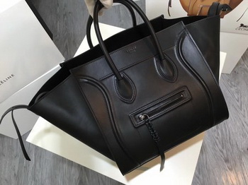 Celine Luggage Phantom Tote Bag Smooth Leather CT3372 Black