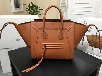 Celine Luggage Phantom Tote Bag Smooth Leather CT3372 Brown