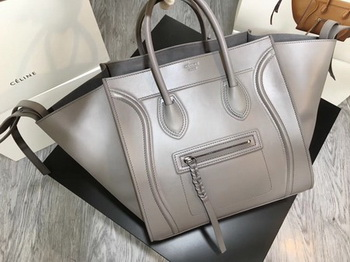 Celine Luggage Phantom Tote Bag Smooth Leather CT3372 Grey