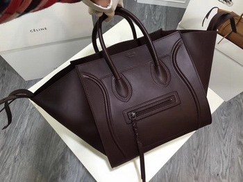 Celine Luggage Phantom Tote Bag Smooth Leather CT3372 Wine