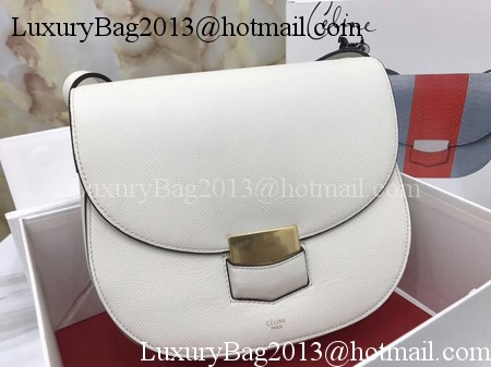 Celine Compact Trotteur Bag Calfskin Leather C1269 White