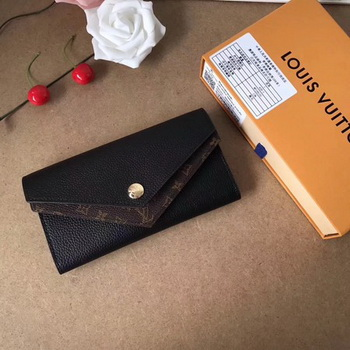 Louis Vuitton CRUISE 2017 DOUBLE V WALLET M64317 Black
