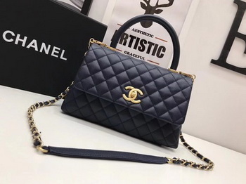 Chanel Classic Top Handle Bag Royal Original Leather A92991 Gold