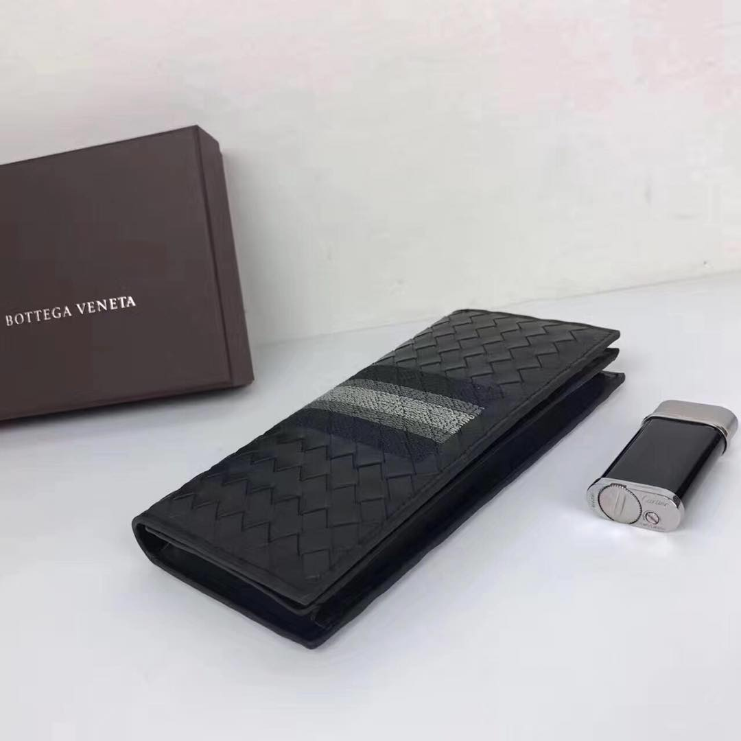 Bottega Veneta Woven Wallet Calfskin Leather BV1730 Black