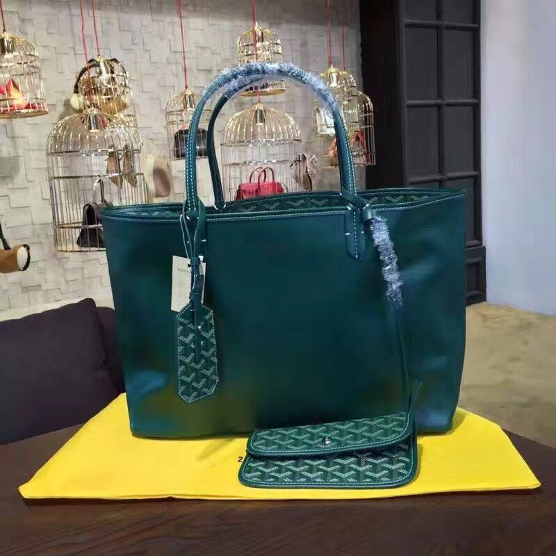 Goyard Y Doodling Calfskin Leather Tote Bag 7901 Green
