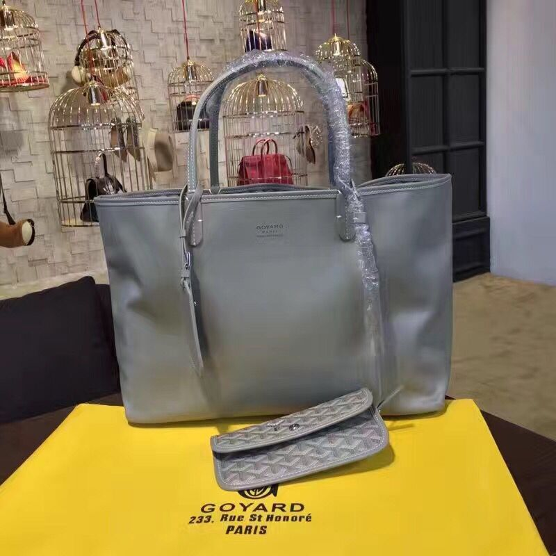 Goyard Y Doodling Calfskin Leather Tote Bag 7901 Grey