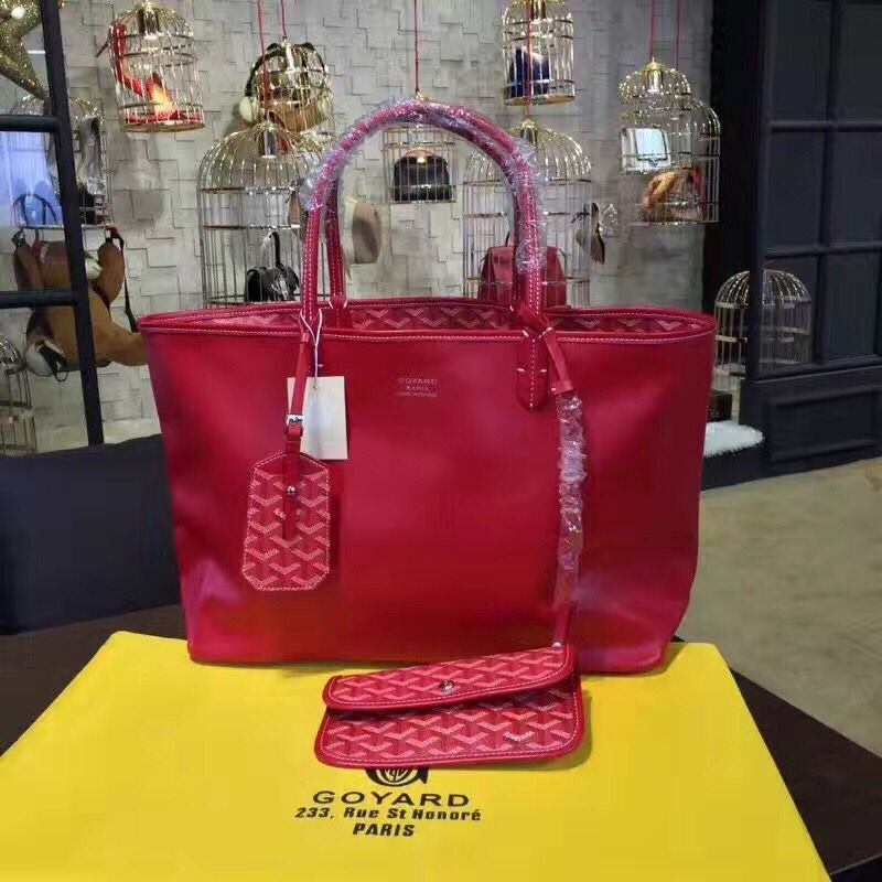 Goyard Y Doodling Calfskin Leather Tote Bag 7901 Pink