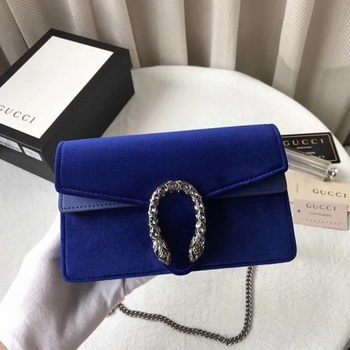 Gucci Dionysus Velvet Super mini Bag 476432 Blue