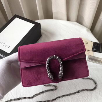 Gucci Dionysus Velvet Super mini Bag 476432 Purple