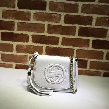 Gucci Soho Chain Shoulder Bag Calfskin Leather 323190 White