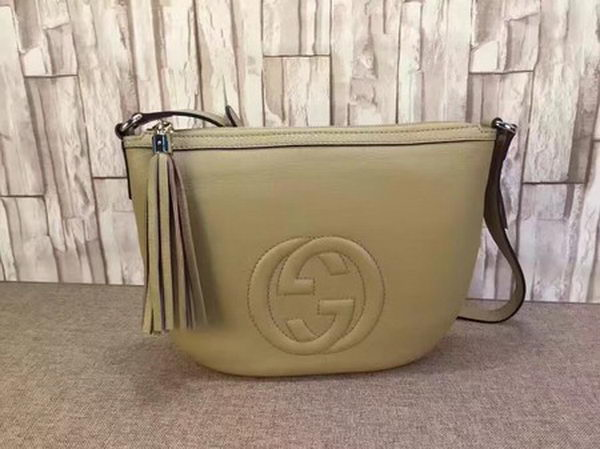 Gucci Soho Leather Messenger Bag 308361 Apricot