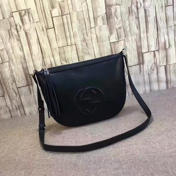 Gucci Soho Leather Messenger Bag 308361 Black