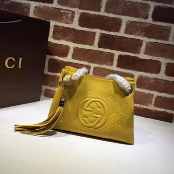 Gucci Soho Small Tote Bag Calfskin Leather 387043 Yellow