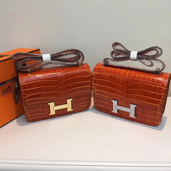 Hermes Constance Bag Croco Leather H9978C Orange