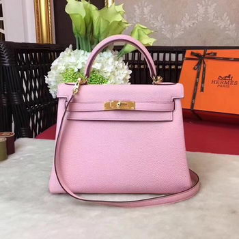 Hermes Kelly 32cm Shoulder Bag TOGO Leather KY32 Pink