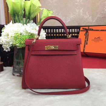 Hermes Kelly 32cm Shoulder Bag TOGO Leather KY32 Red