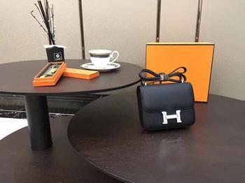 Hermes Constance Bag Original Calfskin Leather H9910 Black