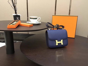 Hermes Constance Bag Original Calfskin Leather H9910 Blue