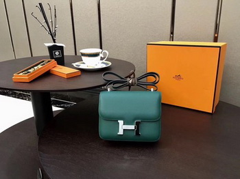 Hermes Constance Bag Original Calfskin Leather H9910 Green